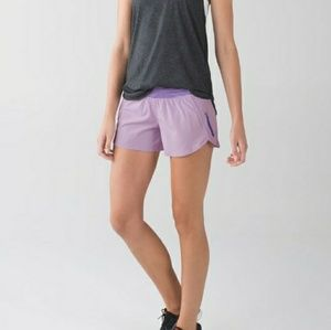 LULULEMON pretty purple tracker shorts